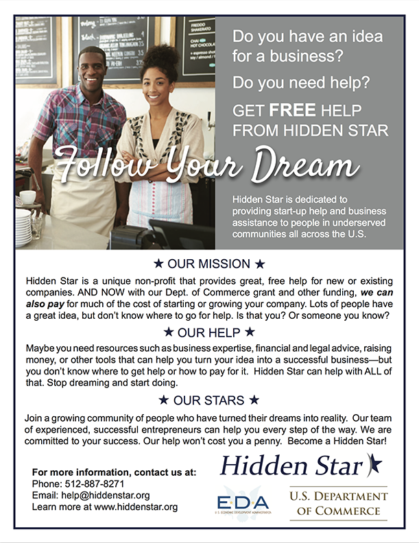 Hidden Star Program Outreach flier